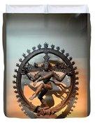 Hindu Statue Of Shiva In Nataraja Dance Pose Duvet Cover