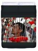 Hindu Thaipusam Festival Pierced Devotee In Singapore Duvet Cover