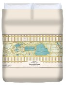 Hinrichs Guide To Central Park 1875 Duvet Cover