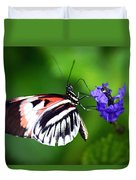 Hint Of Red Butterfly Duvet Cover
