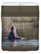 Hippo Yawning Duvet Cover