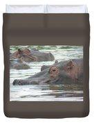 Hippopotamus In Kenya Duvet Cover