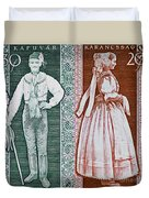 His And Hers Traditional Costumes Duvet Cover