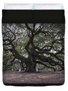 Historic Angel Oak Duvet Cover