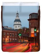 Historic Annapolis And Evening Traffic I Duvet Cover