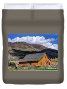 Historic Barn - Wasatch Front Duvet Cover