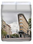 Historic Buildings In Gastown Vancouver Bc Duvet Cover
