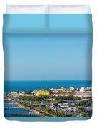 Historic Cartagena And Sea Duvet Cover