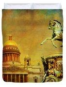 Historic Center Of Saint Petersburg Duvet Cover