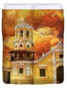 Historic Center Of Santa Cruz De Mompox Duvet Cover
