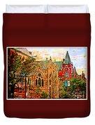 Historic Churches St Louis Mo - Digital Effect 6 Duvet Cover