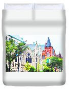 Historic Churches St Louis Mo - Digital Effect 7 Duvet Cover