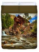 Historic Colorado Landscape Duvet Cover