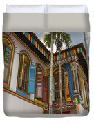 Historic Colorful Peranakan House 2 Duvet Cover