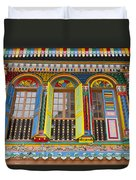 Historic Colorful Peranakan House Duvet Cover