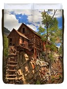 Historic Crystal Mill Duvet Cover by Adam Jewell