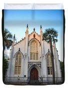 Historic Downtown Church Duvet Cover