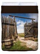 Historic Fort Bridger Gate - Wyoming Duvet Cover