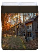 Historic Grist Mill With Fall Foliage Duvet Cover