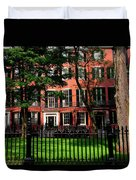Historic Homes Of Beacon Hill, Boston Duvet Cover