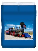 Historic Jupiter Steam Locomotive - Promontory Point Duvet Cover by Gary Whitton