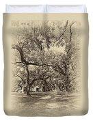 Historic Lane Antique Sepia Duvet Cover