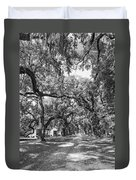 Historic Lane Bw Duvet Cover