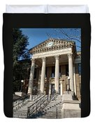 Historic Limestone County Courthouse In Athens Alabama Duvet Cover