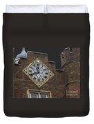 Historic London Clock Duvet Cover