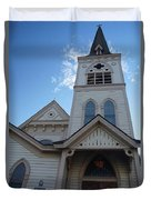 Historic Methodist Church Looking Up Duvet Cover