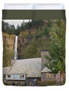 Historic Multnomah Falls Lodge Duvet Cover
