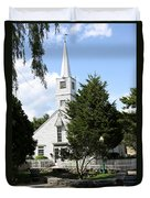 Historic Mystic Church - Connecticut Duvet Cover