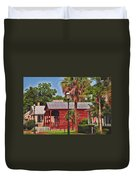 Historic Pensacola With Added Color Duvet Cover