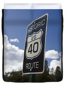 Historic Route Us 40 Sign Duvet Cover