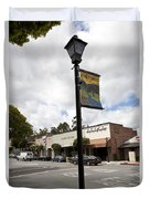 Historic Saratoga Village Duvet Cover