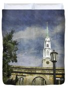 Historic Savannah Church Duvet Cover