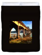Historic Siuslaw River Bridge Duvet Cover