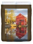 Historic Smithville Shop New Jersey Duvet Cover