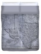 Historic Texas Map Duvet Cover by Dan Sproul
