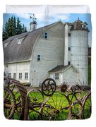 Historic Uniontown Washington Dairy Barn Duvet Cover