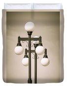 Historic Ybor Lamp Posts Duvet Cover