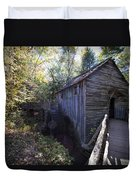 Historical 1868 Cades Cove Cable Mill Duvet Cover