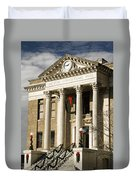 Historical Athens Alabama Courthouse Christmas Duvet Cover