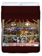 Historical Carousel In Tennessee Duvet Cover