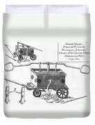 Historical Fire Engine 1728 Duvet Cover