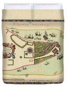 Historical Map Of Manhattan 1661 Duvet Cover