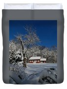Historical Society House In The Snow Duvet Cover