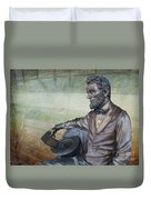 History - Abraham Lincoln Contemplates -  Luther Fine Art Duvet Cover