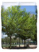 Lincoln Square Springfield Il - Luther Fine Art Duvet Cover
