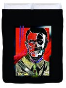 Hitler  - The  Face  Of  Evil Duvet Cover